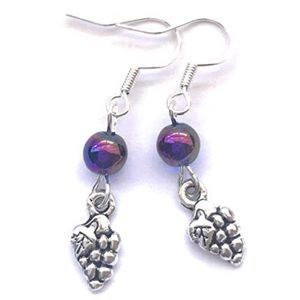 Jewelry - Grapes Charm Dangle Earrings